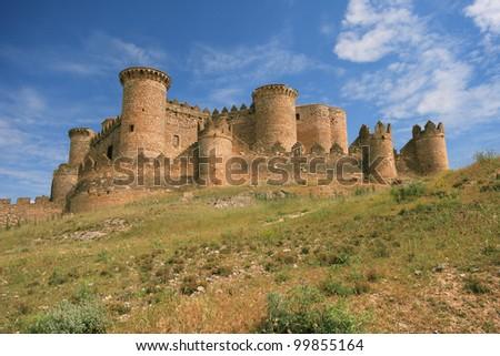Castillo de Belmonte, Provincia de Cuenca, Spain - stock photo