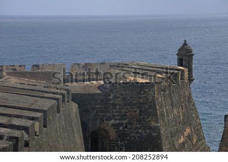 Castillo de San Cristobal in San Juan, Puerto Rico, a 16th-century fortress located in San Juan, Puerto Rico, designated as UNESCO World Heritage Site in 1983. - stock photo