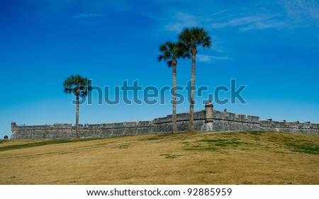 Castillo de San Marco in St Augustine, Florida - stock photo