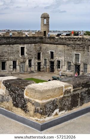 Castillo de San Marcos Courtyard, St. Augustine - stock photo