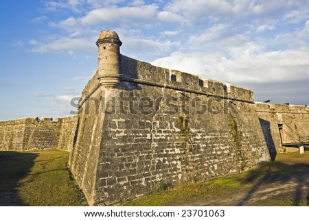 Castillo de San Marcos in St. Augustine, Florida. - stock photo