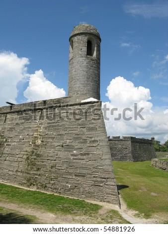 Castillo de San Marcos Monument of St. Augustine, Florida - stock photo