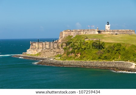 Castillo San Felipe del Morro in San Juan, Puerto Rico - stock photo