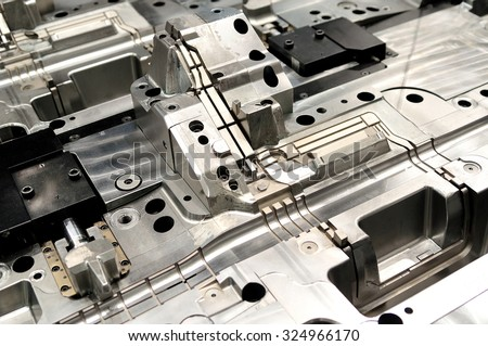 Casting machine detail - form. - stock photo