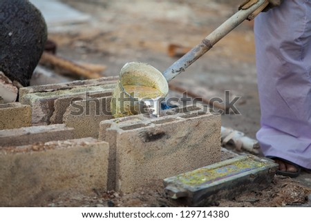 Casting of Buddha images - stock photo
