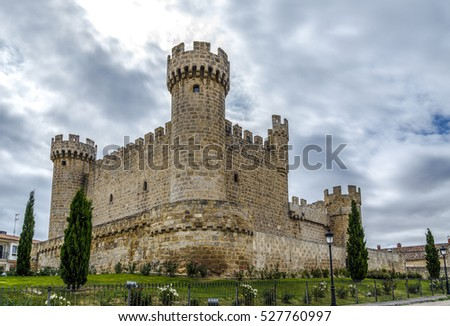 Castle and fortress built in the XV century, located in the town of Sasamon Olmillos in the province of Burgos, Castile and Leon, Spain
