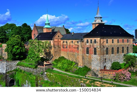 Castle and Fortress, Oslo, Norway - stock photo