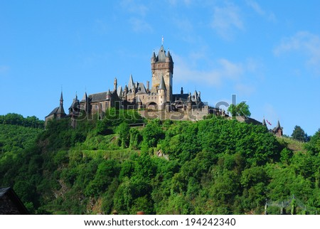Castle at Cochem on the river Mosel - stock photo