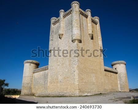 Castle at Torrelobaton,  Xalladolid, Castilla y Leon, Spain - stock photo