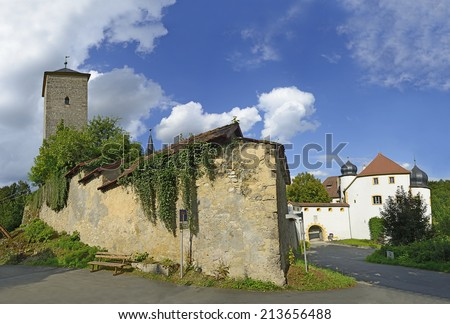 Castle Aufsess or also Unteraufsess is on the projecting spur of rock ridge of the Franconian Switzerland, Bavaria, Germany.