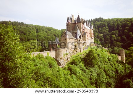 Castle Burg Elz in the Woods, Germany. - stock photo