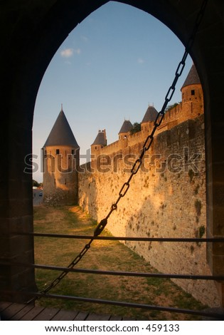 Castle city - stock photo