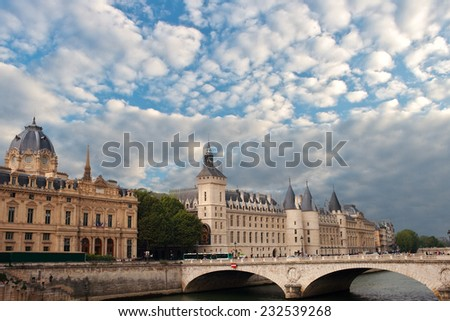 Castle Conciergerie in Paris , France.