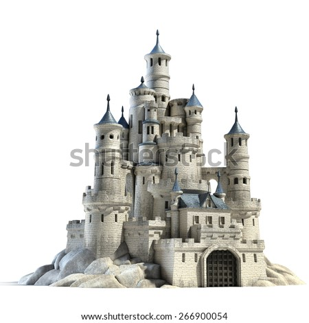 castle 3d illustration - stock photo
