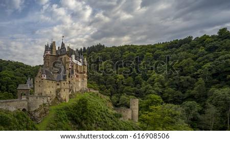 Castle Eltz One Best Preserved Castles Stock Photo - Best castles in europe