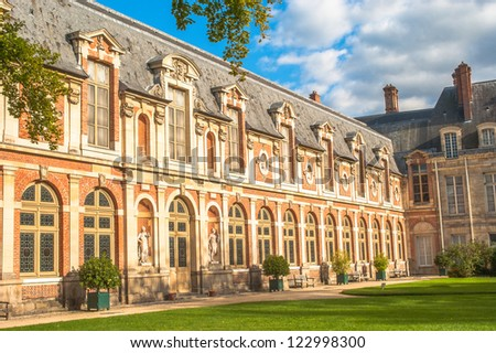 Castle Fontainebleau, France, 50 miles away from Paris - stock photo