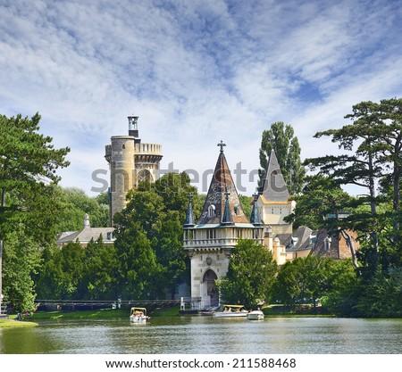 Castle Franzensburg - Laxenburg Water Castle, Lower Austria near Vienna - stock photo