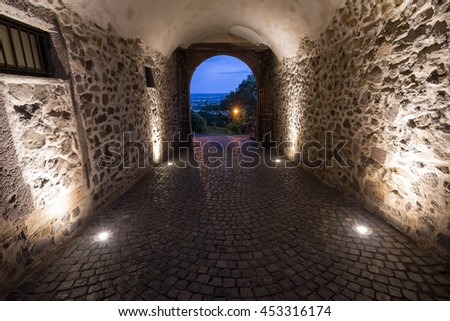 castle gleiberg hessen germany in the evening
