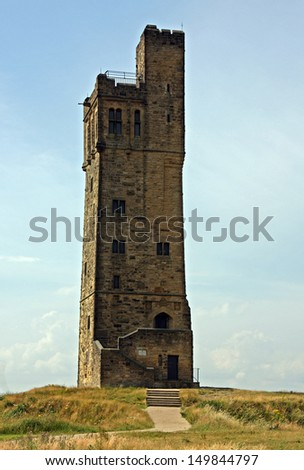 Castle Hill, Huddersfield is a scheduled ancient monument offering panoramic views from a former iron age hill fort and medieval settlement