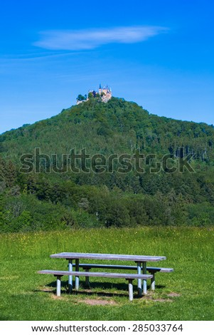 castle hohenzollern in baden wuerttemberg germany