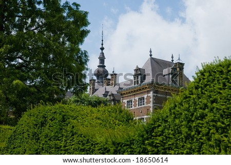Castle in a green environment - stock photo