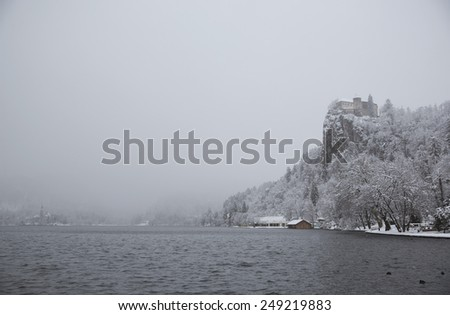 Castle in Bled Slovenia