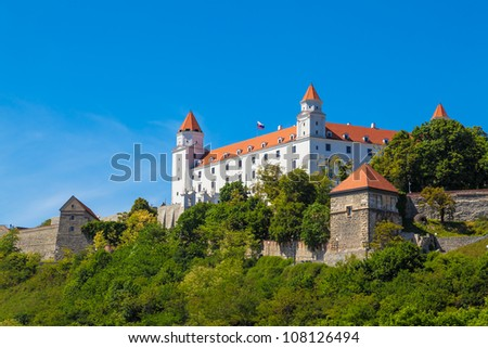 Castle in Bratislava, Slovak Republic - stock photo