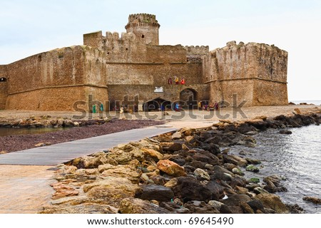 castle in calabria south italy, le castella