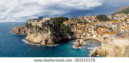 Castle in Dubrovnik, Croatia - stock photo