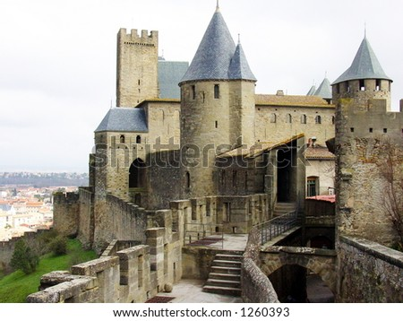 Castle in Southern France - stock photo