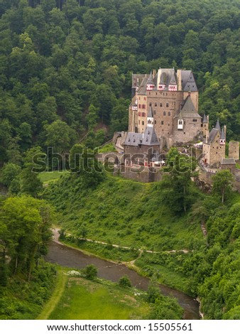 Castle in the forest, Burg Eltz in Germany