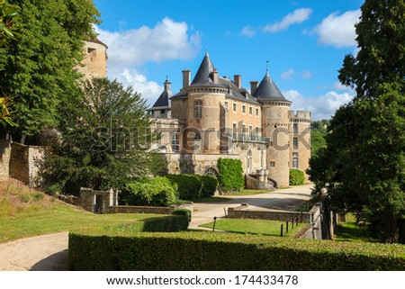 Castle in the historic town of Semur en Auxois in Burgundy, France.