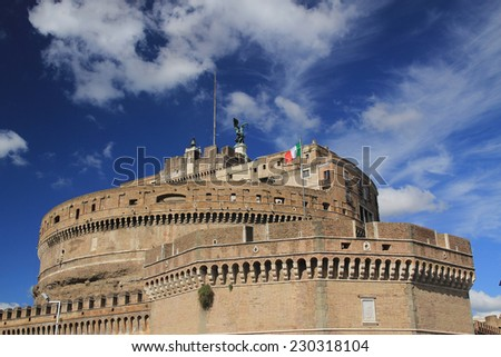 Castle in Vatican - stock photo