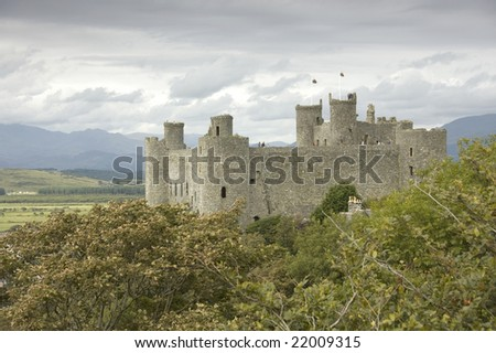 castle in wales - stock photo