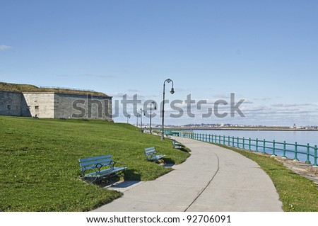Castle Island in South Boston - stock photo