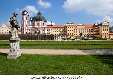 Castle Jaromerice nad Rokytnou, Bohemia - stock photo