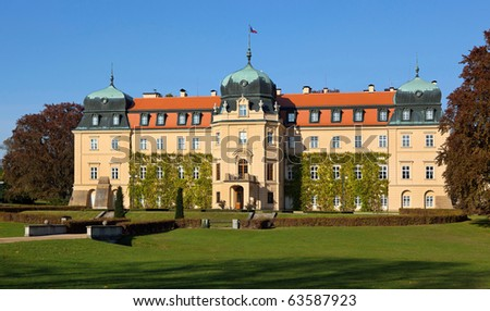 Castle Lany, Bohemia (summer residence of the President of the Czech Republic) - stock photo
