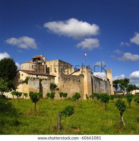 Castle Larressinge, France - the Pilgrim's Road to Santiago de Compostela - stock photo