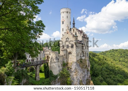 Castle Lichtenstein in Germany - stock photo