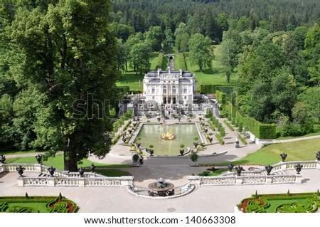 castle Linderhof  2 - stock photo