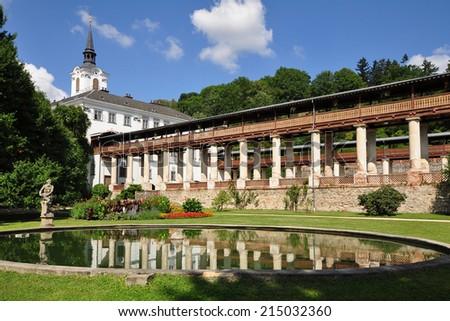 castle Lysice,Czech - stock photo
