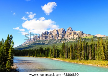 Castle Mountain, Banff National Park, Canada - stock photo