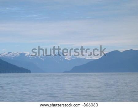 Castle Mountain in Southeastern Alaska Near Wrangell - stock photo