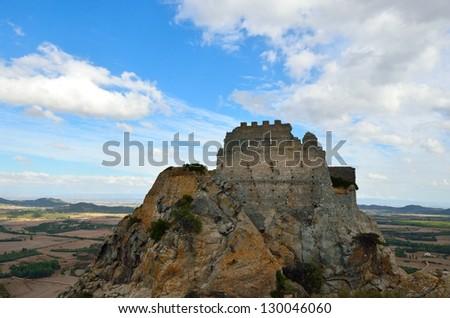 Castle of Acquafredda. Sardinia. Italy - stock photo