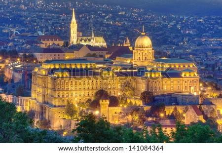 Castle of Budapest - stock photo