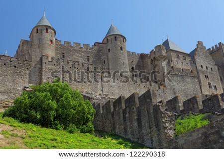 Castle of Carcassonne, France. Europe - stock photo