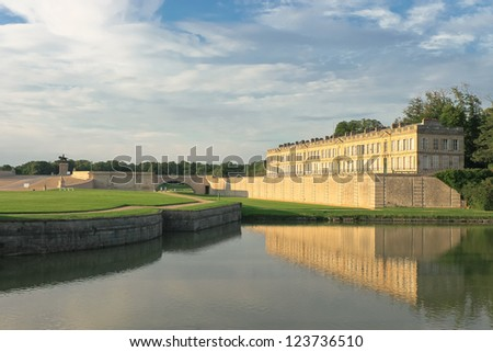 Castle of Chantilly. France - stock photo