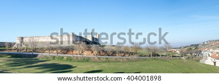 Castle of Chinchon in the famous village Chinchon, Spain - stock photo