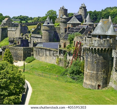 Castle of Fougeres, Brittany, northwestern France.