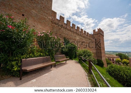 Castle of Gradara, Gradara, Pesaro e Urbino, Marche, Italy - stock photo